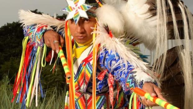 Larry Yazzie, observing at a pow wow.