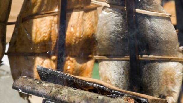 When roasting food, James makes his fire three hours in advance to build a good bed of coals. (Thinkstock)