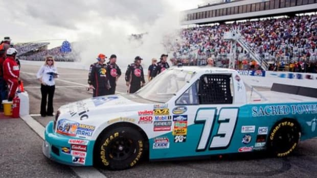 A.J. Russell's #73 Truck at the New Hampshire Motor Speedway