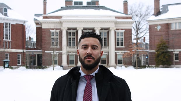 Julian SpearChief-Morris, Blood Tribe, is the first indigenous student to be elected president of the Harvard Legal Aid Bureau in the bureau's 104-year history.
