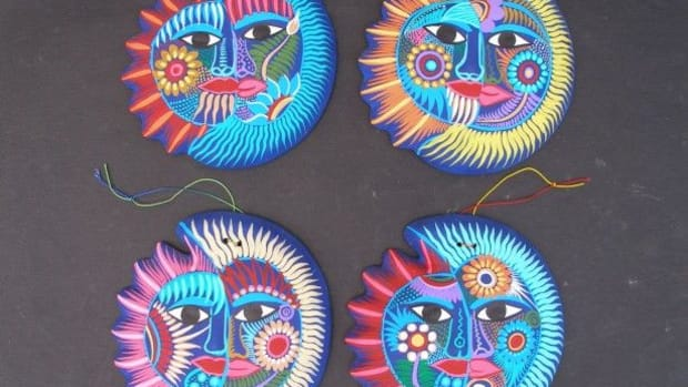 These Mexican ceramic ornaments are typical of the prevalence of eclipses in indigenous art.
