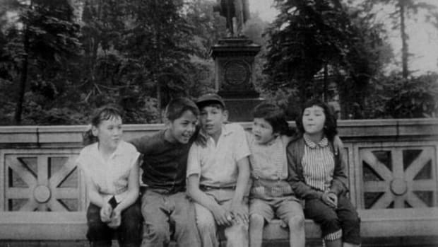 """Mohawk children from the Little Caughnawaga neighborhood visit Brooklyn's Prospect Park. This neighborhood is featured in the documentary """"To Brooklyn and Back: A Mohawk Journey."""""""