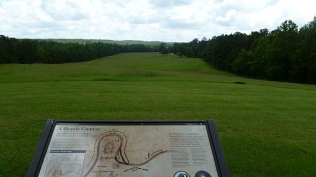 The Horseshoe Bend battlefield in central Alabama.