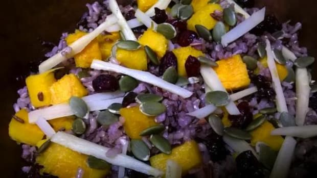 There are so many possibilities for fall ingredients. This wild rice, pumpkin and parsnip toss is just one option.