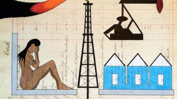 An artistic depiction of what has transpired in, and transformed, culture and lives in the Bakken oil fields and beyond.