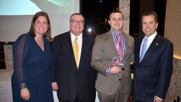 Pictured, from left, are: Cherokee Nation Government Relations Executive Director Courtney Ruark-Thompson, Oklahoma State System of Higher Education Chancellor Glen Johnson, Cherokee citizen and 30/30 Next Gen honoree Canaan Duncan, and former Congressman Dan Boren.