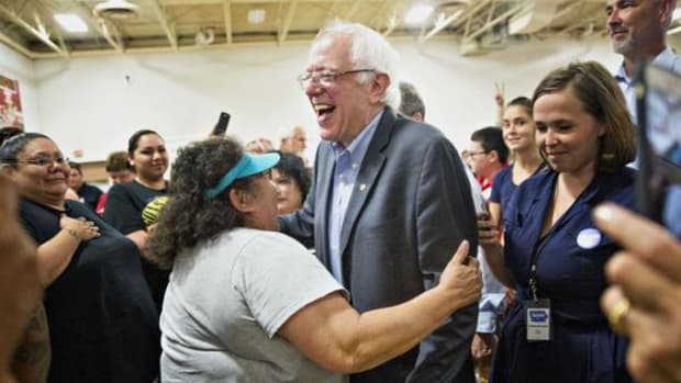 Bernie Sanders on the campaign trail.