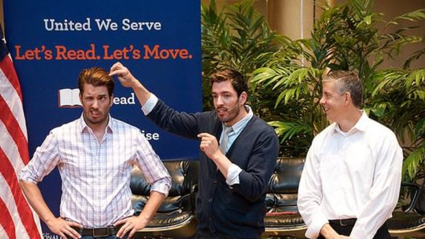 """The Let's Read! Let's Move! summer series concluded last year at the National Building Museum and included appearances by Drew and Jonathan Scott, hosts of HGTV's hit show """"Property Brothers."""""""