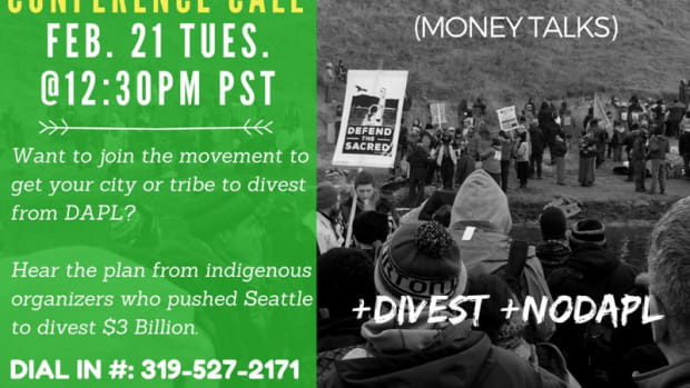 Defund DAPL Conference Call Poster