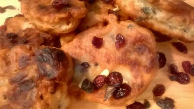 Traditional Bannock frybread was adopted from the Scottish fur traders' griddle cakes recipe and often incorporates dried fruits, nuts, and jerked meats, including venison, elk, and buffalo.