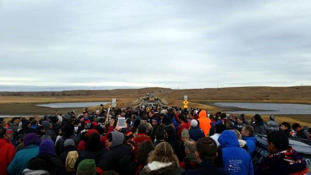 Thing About Skins: As my buddy Rob reminds me: there's a point to everything that's been going on in Standing Rock. It's important to not lose sight of that.