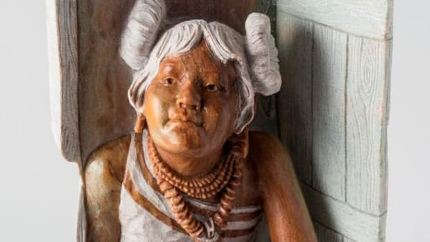 Alvin Marshall's sculpture, 'A Little Girl's Dream,' was named Best of Show at the eighth annual Cherokee Art Market. Courtesy Cherokee Nation.