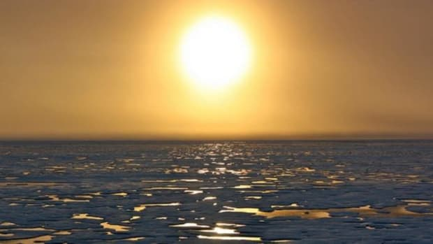 The Arctic's summer sea-ice cover has hit new record lows several times in the past decade. (Photo courtesy of NASA)