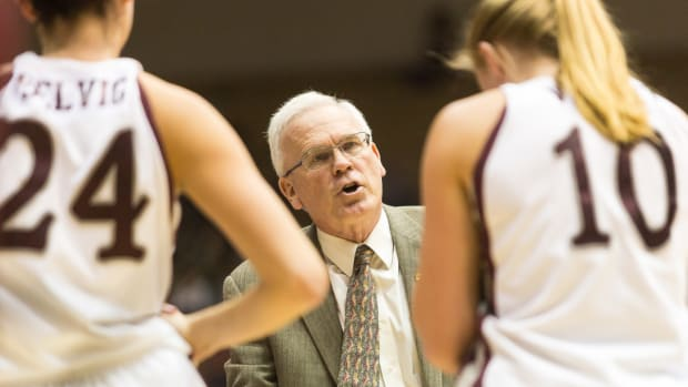 Recognized for recruiting Native women basketball players, Montana Indian Hall of Famer Robin Selvig created an NCAA legacy. Courtesy of UM Athletics