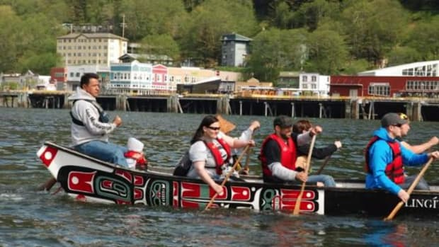 Tlingit artist Doug Chilton is the leader of the One People Canoe Society. Watch the videos to learn about his job and how he got started.