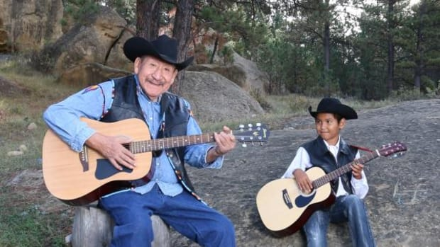 Maurice Limberhand was teaching his grandson Oliver Seminole to play guitar at the time of his stroke.