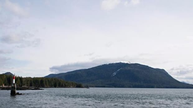 Lelu Island, a key salmon habitat, is under threat from planned liquefied natural gas (LNG) development approved by the Canadian government. The LNG project is being challenged in court by several First Nations and environmental groups.