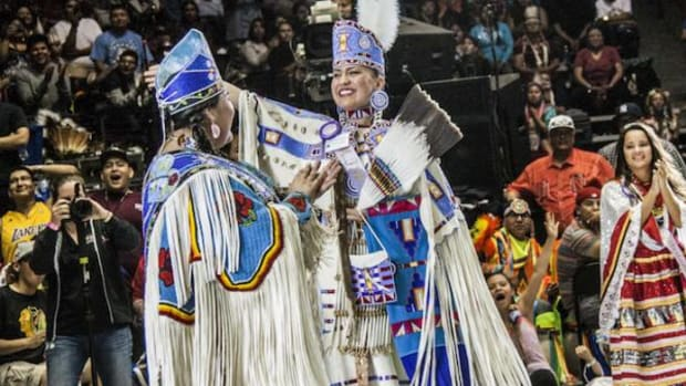 The new Miss Indian World 2015-2016, Cheyenne Brady, Sac and Fox, was crowned Saturday, April 25, 2015.