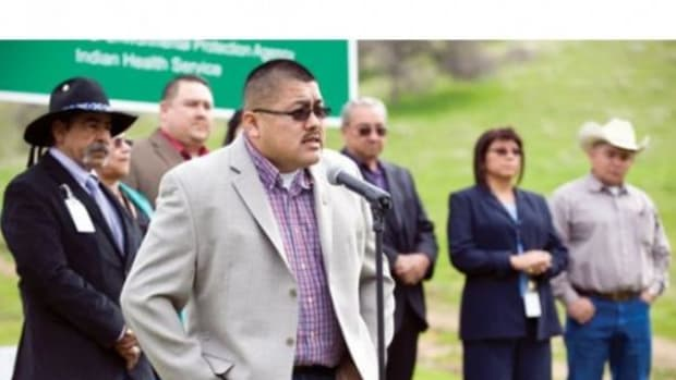 Council Chairman Ryan Garfield and Tribal Council (Photo courtesy of The Recorder)
