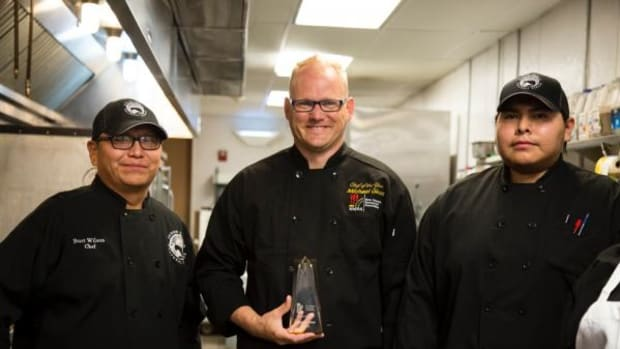 Chef Michael Giese is known for bridging cultures in Pueblo Harvest Cafe's Native fusion menu.