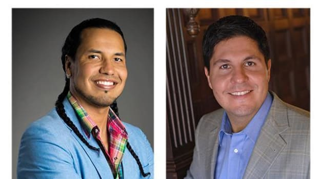 Gyasi Ross (left) and Gabe Galanda are two of Indian country's stars in the field of law.