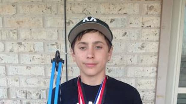 Caleb Griffin Mull, who has developed skills as an archer since the age of five, wants to compete in the Olympics one day