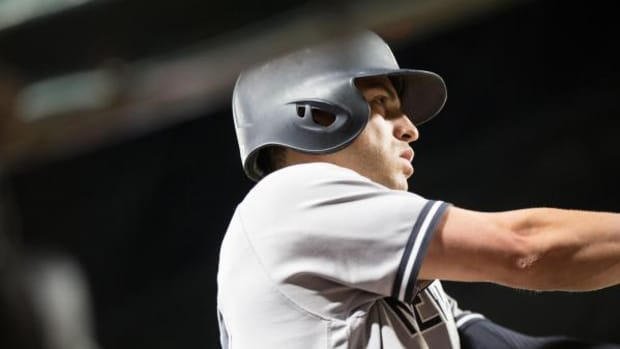 New York Yankees centerfielder Jacoby Ellsbury warms up for a game against the Seattle Mariners Aug. 22 at Safeco Field in Seattle
