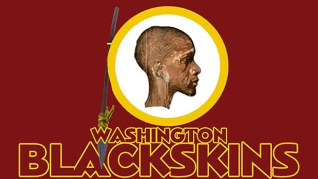 "Gerard Miller writes: ""While I was an undergrad student, this writing and image helped change the perspective of some students who couldn't care less about the Washington Redskins mascot name."""