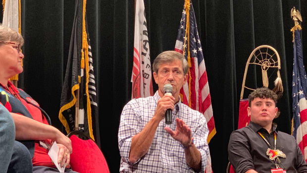 Joe Sestak at Native forum