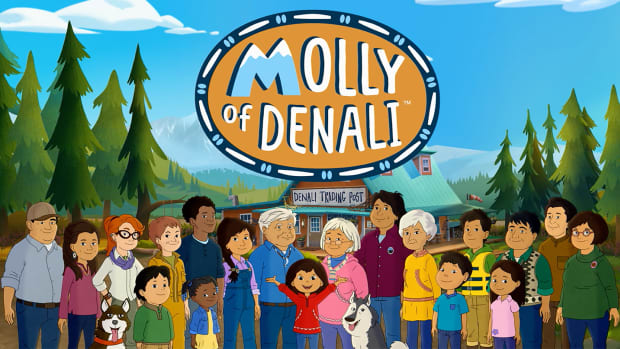 Pictured: Molly of Denali opening title shot.