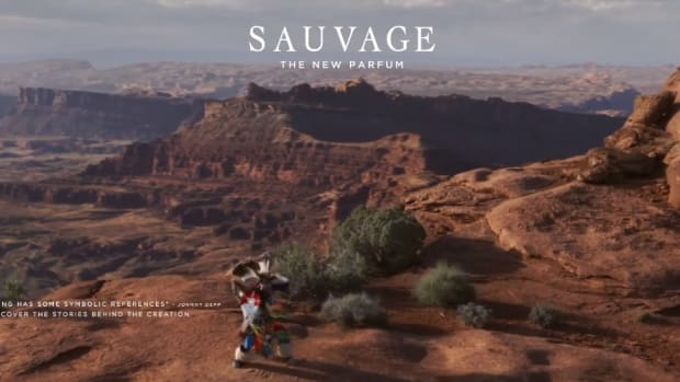 """Screenshot of one of the closing frames of the """"Dior SAUVAGE 