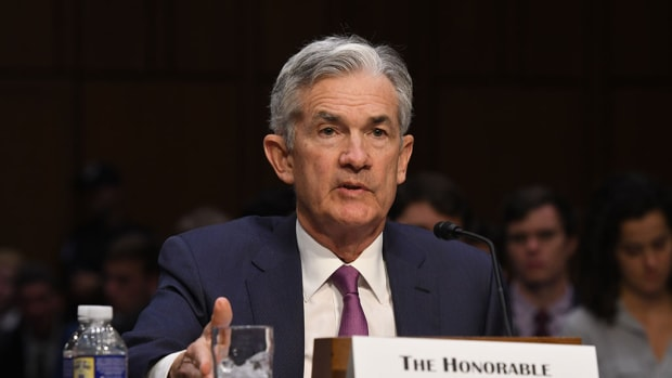 Pictured: Chairman Powell presents the Monetary Policy Report to the Senate Committee on Banking, Housing, and Urban Affairs in July 2018.