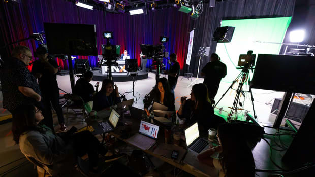 Behind the scenes of Native Election Night live on November 6, 2018. (Photo by Eugene Tapahe of Tapahe Photography)