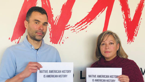 Pictured: Andrew Bentley, NDN Collective Director of Finance, and Kim Pate, NDN Collective Vice President.