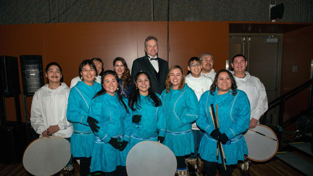 Gov. of Alaska Mike Dunleavy at the inaugural ball.