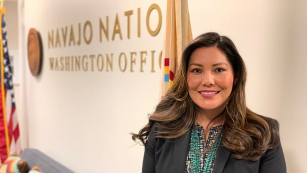 Santee Lewis is executive director of the Nation Nation's Washington Office. (Photo by Pauly Denetclaw.)