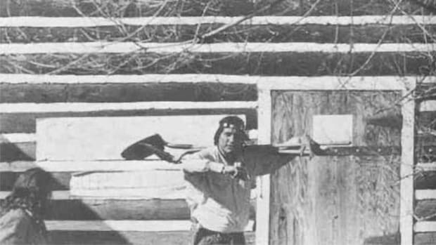 Dwain camp in Wounded Knee 1973
