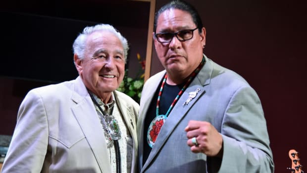 Ernest L. Stevens, Jr., Chairman, National Indian Gaming Association and Ben Nighthorse Campbell, U.S. Senator - Retired