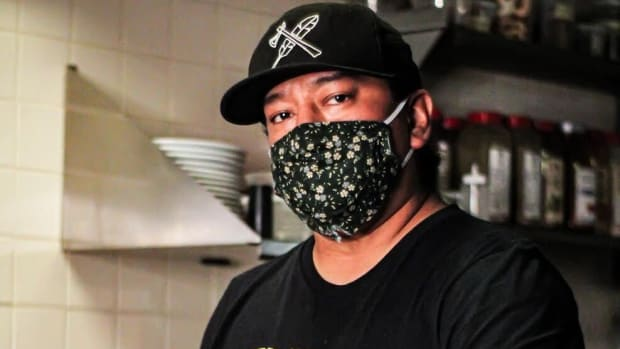 Chef Brian Yazzie, Diné, of the Minneapolis American Indian Center. Photo by Emil Linden