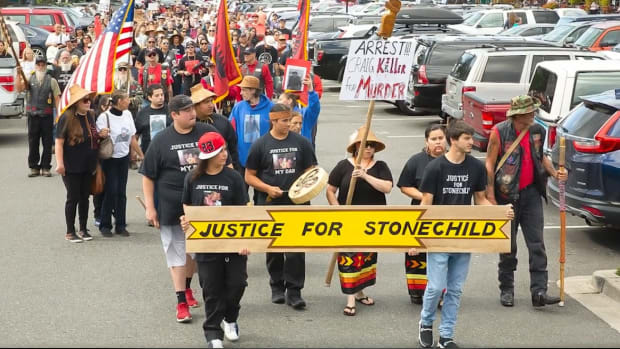 The fatal shooting of Stonechild Chiefstick, Cowichan/Cree, on July 3, 2019 spurred marches and calls for justice. The officer who shot him was ultimately cleared by the county prosecutor and a use-of-force review panel. (Courtesy Chiefstick family).