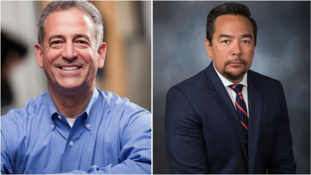 Former state of Wisconsin Senator Russ Feingold and Keith M. Harper, Cherokee Nation