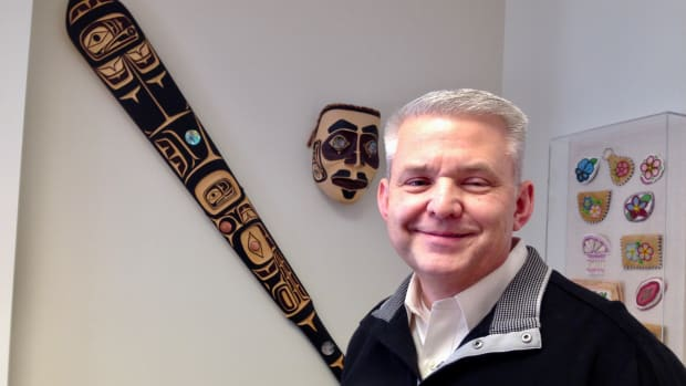 Pictured here: Roald Helgeson, Haida, on March 5, 2020. He resigned from his position as administrator for the Alaska Native Medical Center on August 7, 2020 to work as Chief Operating Officer for the Central Council of Tlingit and Haida Indian Tribes of Alaska. (Photo by Joaqlin Estus)