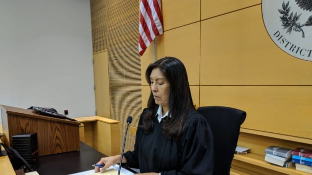 Diane J. Humetewa, Hopi, is the first Native American woman federal judge. (Photo by Patty Talahongva, Indian Country Today)