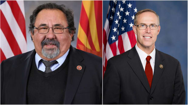 Natural Resource Chair Raul Grijalva and Rep. Jared Huffman, Chair of the Water, Oceans, and Wildlife Subcommittee