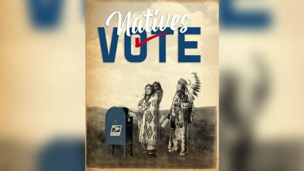 Steven Paul Judd Natives Vote design (Photo courtesy of Natives Vote campaign)