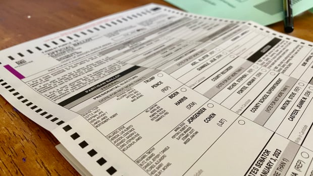 Arizona mail-in ballot for general election, Nov. 3, 2020. (Photo by Dalton Walker, Indian Country Today)