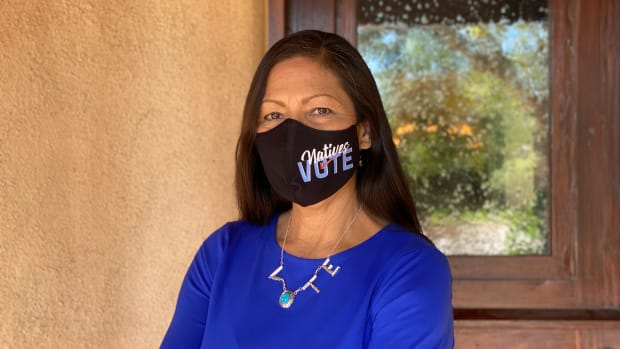 This 2020 photo shows New Mexico Rep. Deb Haaland, Laguna Pueblo, who is seeking a second term in Congress. (Photo by Aliyah Chavez, Indian Country Today)