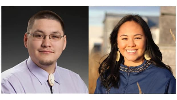 Two Inupiaq candidates face off for an open Alaska House seat. Josiah Patkotak, left, is running as an Independent. Elizabeth Ferguson, right, is running as a Democrat,
