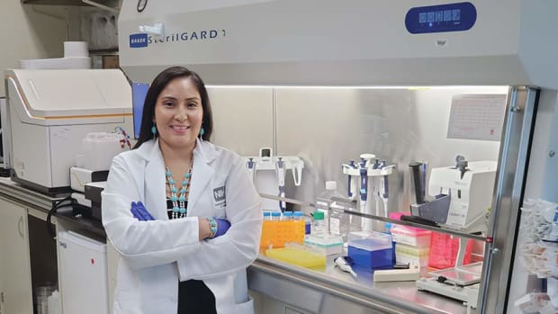 Kristina Gonzales-Wartz, is laboratory technician and manager at the Antibody Biology Unit of the National Institute of Allergy and Infectious Diseases, part of the National Institutes of Health. (Photo courtesy of Kristina Gonzales-Wartz via the Navajo Times)