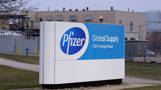 The Pfizer Global Supply Kalamazoo manufacturing plant is shown in Portage, Mich., Friday, Dec. 11, 2020. The U.S. gave the final go-ahead Friday to the nation's first COVID-19 vaccine, marking what could be the beginning of the end of an outbreak that has killed nearly 300,000 Americans. (AP Photo/Paul Sancya)